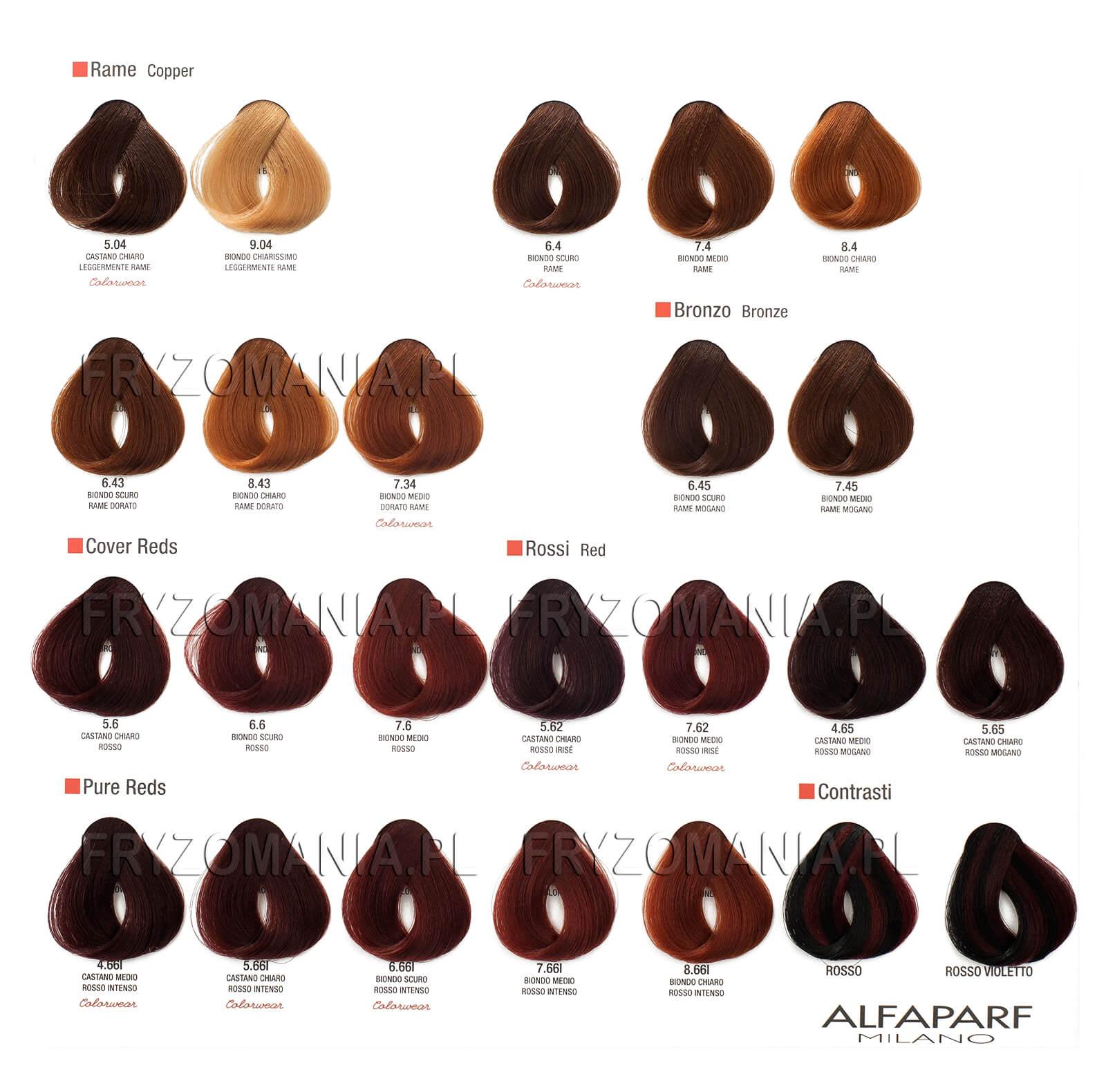 Hair Color Chart Alfaparf Evolution Farba Do Włos 243 W 60ml Sklep Online