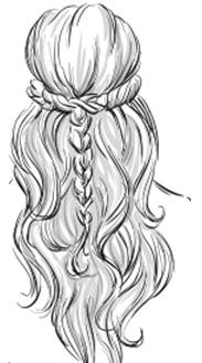 długie włosy w stylu boho