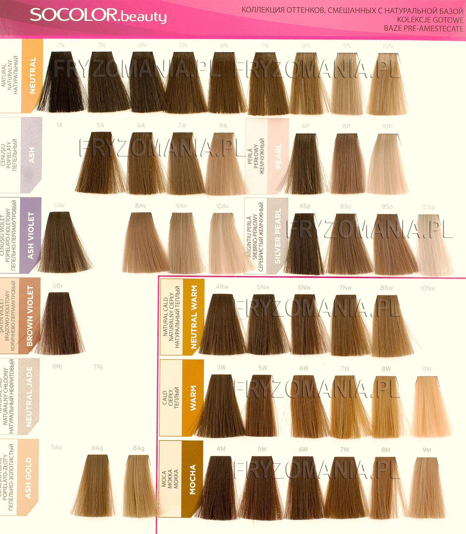Hair Color Chart Matrix Socolor Beauty Farba Do Trwałej Koloryzacji 90ml