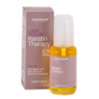 Alfaparf Keratin Therapy Lisse Design The Oil olejek do włosów 50ml