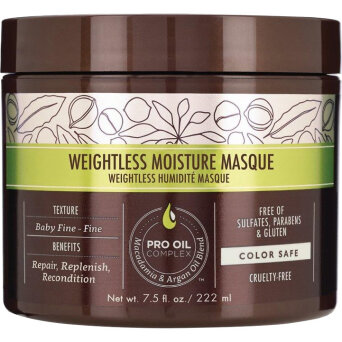 Macadamia Weightless Mask maska nawilżajaca do włosów cienkich 222ml