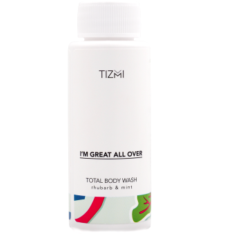 Tizmi Total Body Wash rabarbar & mięta - żel do ciała 50ml
