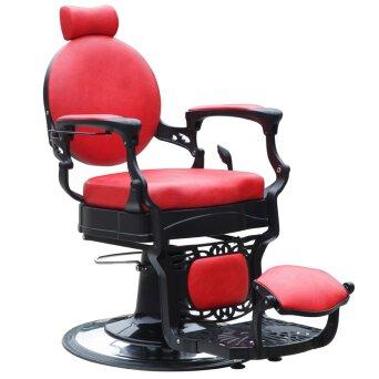 7dc0b3edad84c9 Gabbiano PRESIDENT Fotel barberski fryzjerski czerwony dostępny w 48h