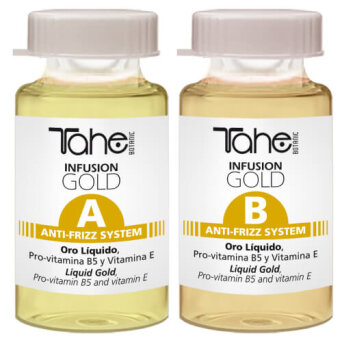 Tahe BOTANIC GOLD FINISHING Infusion Gold Anti-Frizz System (A+B) ampułki 2x10 ml
