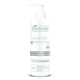 Bielenda Professional Advanced Ag+ Protection Żel aktywny do oczyszczania rąk o właściwościach antybakteryjnych 150ml