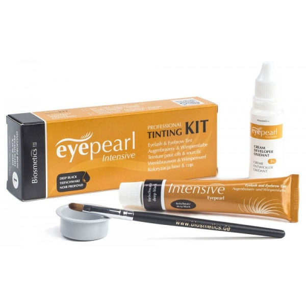 Intensive Eyepearl Tinting Kit Brown Zestaw do henny, kruczoczarny