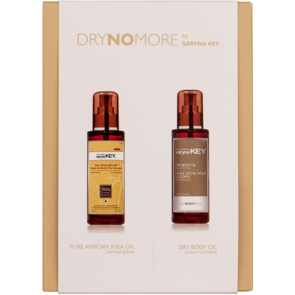 Saryna Key Duet Repair olejek do włosów Pure African Shea Oil 110ml i olejek do ciała Body Dry Oil 110ml