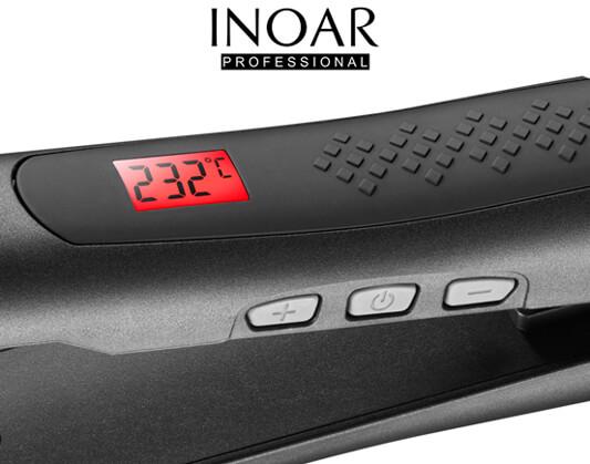 Prostownica Inoar posiada cyfrową regulację temperatury